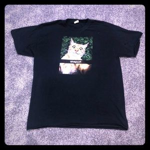 Fruit Of The Loom Snapcat Black Top Size XL